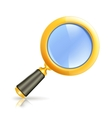 Magnifying lens vector image vector image