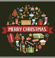 merry christmas symbols new year signs set vector image vector image