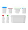 milk pack empty glass jar glassware blank vector image vector image
