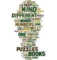 mindpuzzlesinbooks text background word cloud vector image vector image