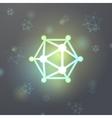 Nanoparticle Icosahedron Virus Microcosm A vector image vector image