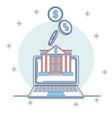 online bank service vector image