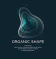 organic forms with dynamic waves and lines on a vector image vector image