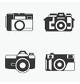 photo camera icons set in line style vector image vector image