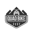Quad Bike Festival Label Design Black And White vector image vector image