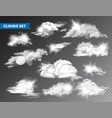 realistic clouds with sun collection isolated vector image vector image