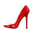red woman shoe with high heel vector image