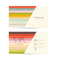 Retro Paper Business Card Template vector image vector image