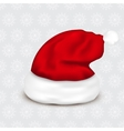 santa claus hat on christmas background vector image vector image
