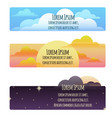set of banners with natural weather day sunset vector image