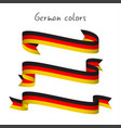 set of three ribbons with the german tricolor vector image vector image