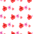 Spring seamless pattern with roses vector image vector image