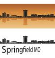 Springfield skyline in orange vector image vector image