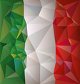 Stylized flag of Italy Low poly style vector image vector image