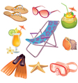 Summer vacation travel icon set vector image vector image