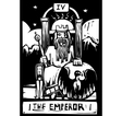 Tarot Card Emperor vector image vector image