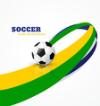 wave style football vector image vector image