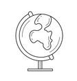world globe line icon vector image