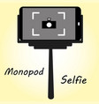 smart phone monopod for selfie vector image