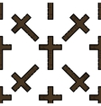 Christianity flat pattern vector image