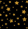 grunge star patter vector image