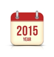 2015 Year Calendar App Icon With Reflection vector image vector image