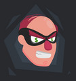 a picture of a balding thief wearing a mask that vector image vector image