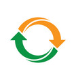 abstract circle symbol recycle icon image vector image