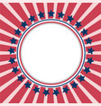 american background frame with usa flag symbols vector image