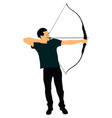 archer hunter bow and arrow sport hunting vector image
