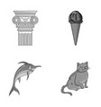 art animal and other monochrome icon in cartoon vector image vector image