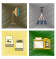 assembly flat shading style icon photo camera vector image