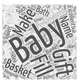 baby shower gift basket Word Cloud Concept vector image vector image
