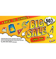 back to school big sale bannershop now promotions vector image