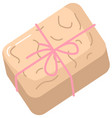 beige soap bar for cleanliness and health vector image