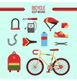 Bicycle Kit Keep Moving vector image