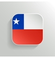 Button - Chile Flag Icon vector image
