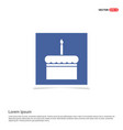 cake icon - blue photo frame vector image