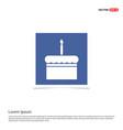 cake icon - blue photo frame vector image