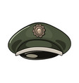 cartoon of military service cap with abstract vector image vector image