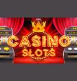 casino 3d slots machine wins the jackpot vector image