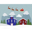 Christmas-town vector image