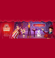circus show flyer with big top performers vector image vector image