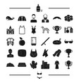 clothes animal award and other web icon in black vector image vector image