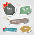 Colorful label and tag collection paper design vector image vector image
