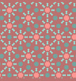coral color seamless geometric pattern vector image