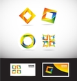 Corporate business colors logo icon vector image vector image