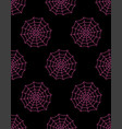 cute seamless pattern with spider web vector image vector image