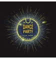Dance party badges logos and labels Neon for any vector image vector image