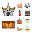 design of building and city icon set of vector image